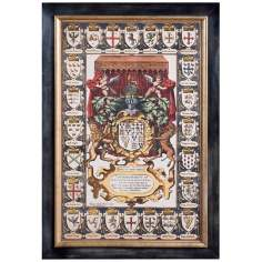 "Uttermost 43 3/4"" High Arms of Kings Framed Wall Art"