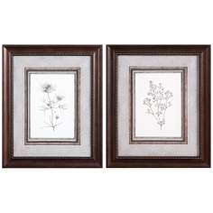 Set of 2 Uttermost Wheat Studies I and II Framed Wall Art