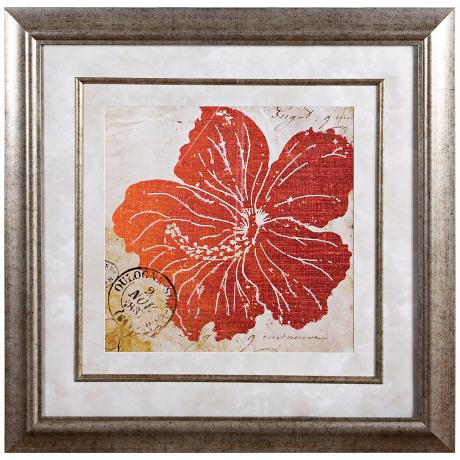 "Uttermost 35 1/2"" High Flower Power Framed Wall Art"