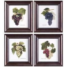 Set of 4 Uttermost Vino Grapes I-IV Framed Wall Art