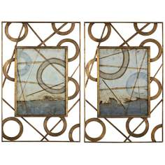 "Uttermost Set/2 Intersections 40 3/4"" High Framed Wall Art"
