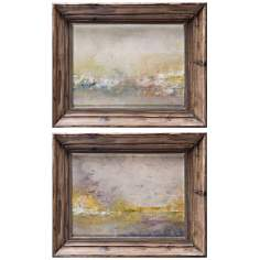 "Set of 2 Uttermost 31"" Wide Mornings I, III Framed Wall Art"