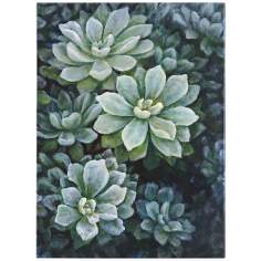 "Uttermost 38"" High Succulent Serenade Hand-Painted Wall Art"
