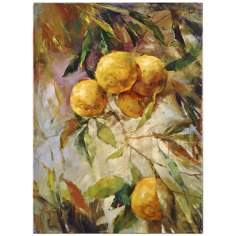 "Uttermost 38"" High Summer Harvest Hand-Painted Wall Art"