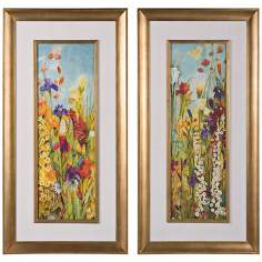 Uttermost Set of 2 Merriment I, II Framed Floral Wall Art