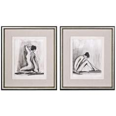 "Uttermost Set of 2 Sumi-e I, III 29 3/4"" Wide Asian Wall Art"