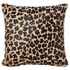 "Leopard Print 16"" Square Decorative Pillow"
