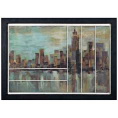 "Uttermost Misty Day in Manhattan 41 1/2"" Wide Wall Art"