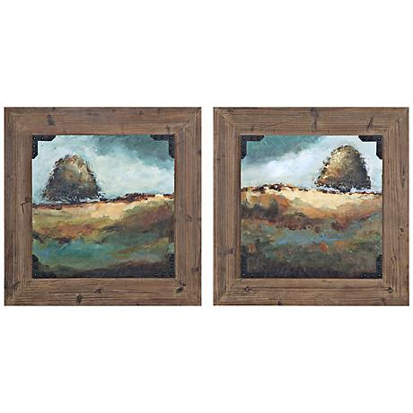 "Uttermost Set of 2 Trees of Life I, II 28"" Wide Wall Art"