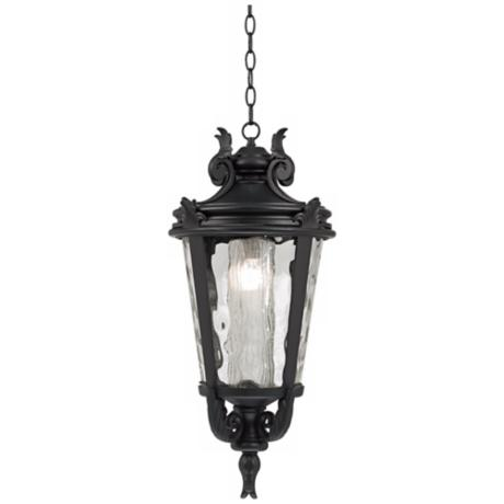 "Casa Marseille 26 1/4"" High Black Outdoor Hanging Light"