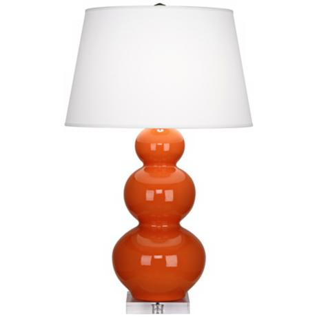 Robert Abbey Pumpkin Triple Gourd Ceramic Buffet Lamp