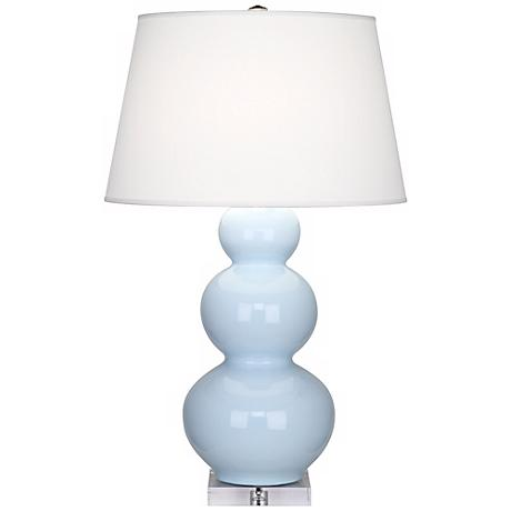 Robert Abbey Light Blue Triple Gourd Ceramic Buffet Lamp