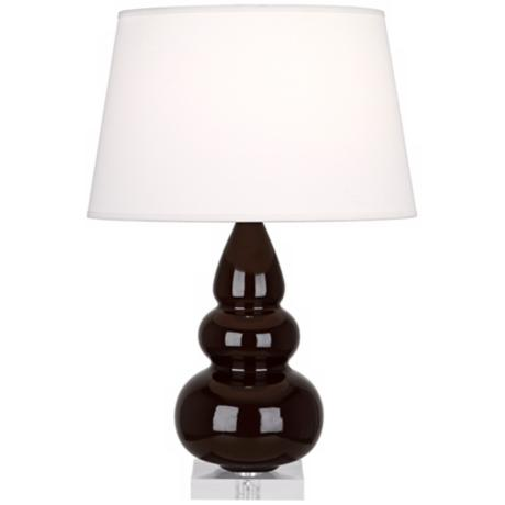 Robert Abbey Chocolate Triple Gourd Ceramic Table Lamp