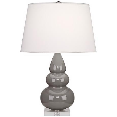 Robert Abbey Taupe Triple Gourd Ceramic Table Lamp