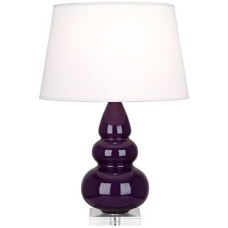 Robert Abbey Amethyst Triple Gourd Ceramic Table Lamp