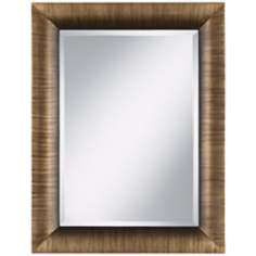 "Lexington Brushed Bronze 34 1/2"" High Wall Mirror"