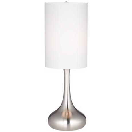 Steel Droplet Table Lamp With Cylinder Shade