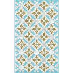 Outdoor Collection Florin Blue Area Rug