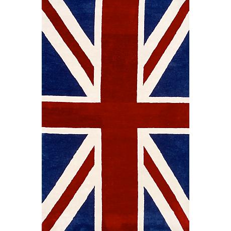 Ecconox Collection Classic Union Jack Area Rug