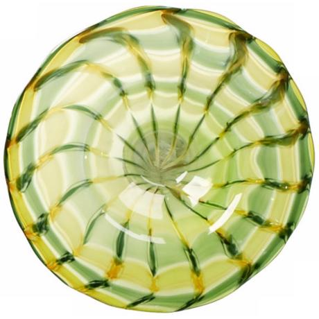 Small Francisco Green and Yellow Glass Plate