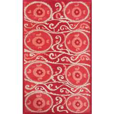 Camden Collection Suzani Tile Red Area Rug