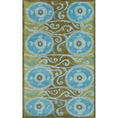 Camden Collection Suzani Tile Blue Area Rug