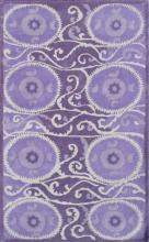 Camden Collection Suzani Tile Lavender 5'x8' Area Rug