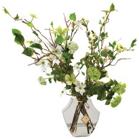 "Jane Seymour 28 1/2"" Green and White Hampton Arrangement"