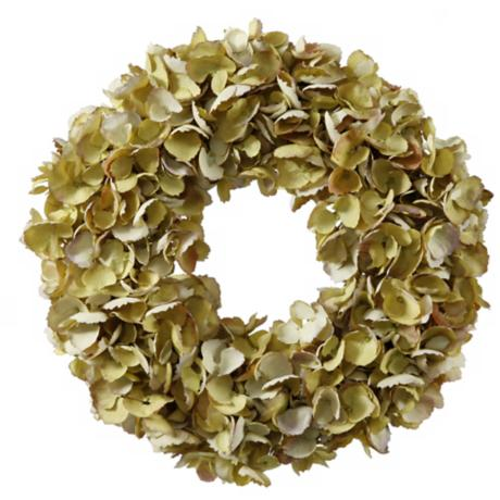 "Jane Seymour 16"" Dried Hydrangea Wreath"