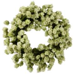 "Jane Seymour 16"" Light Green Faux Hops Wreath"