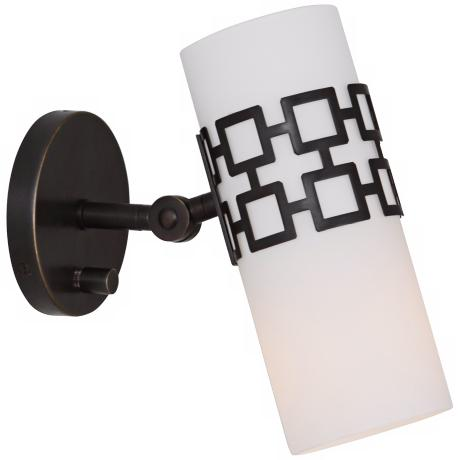 Jonathan Adler Parker Bronze Plug-In Swing Arm Wall Lamp