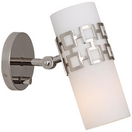 Jonathan Adler Parker Nickel Plug-In Swing Arm Wall Lamp