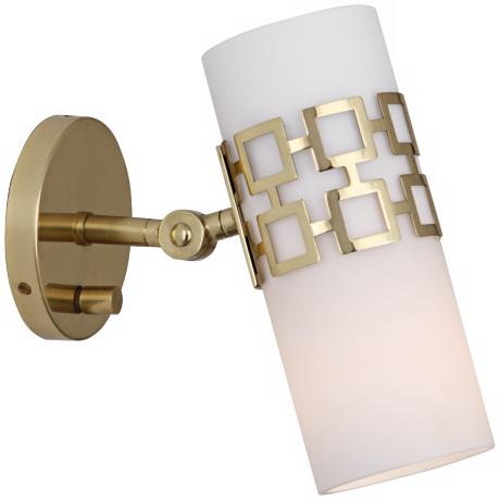 Jonathan Adler Parker Brass Plug-In Swing Arm Wall Lamp
