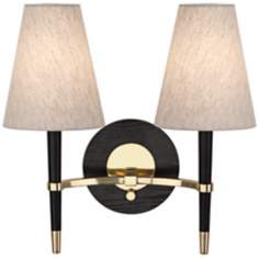 Jonathan Adler Ventana Brass 2-Light Plug-In Wall Lamp