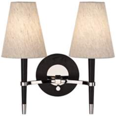Jonathan Adler Ventana Nickel 2-Light Plug-In Wall Lamp