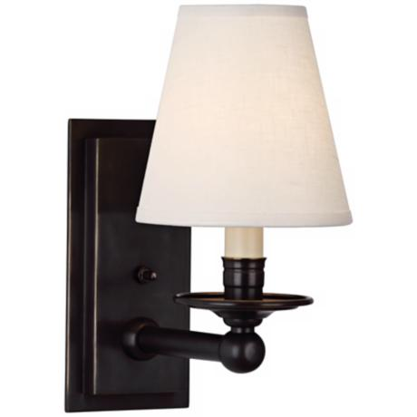 Robert Abbey Victoria Deep Patina Bronze Plug-In Wall Sconce