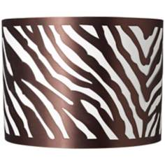 Laser Cut Zebra Drum Lamp Shade 13.5x13.5x10 (Spider)
