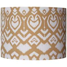 Tan Ikat Pattern Drum Shade 12x12x9 (Spider)