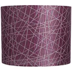 Purple Lines Lamp Shade 14x14x11 (Spider)