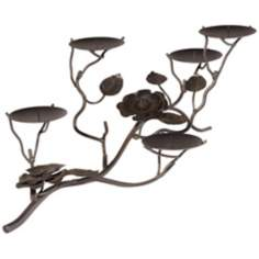 Santa Rosa 5-Tier Floral Metal Candle Holder