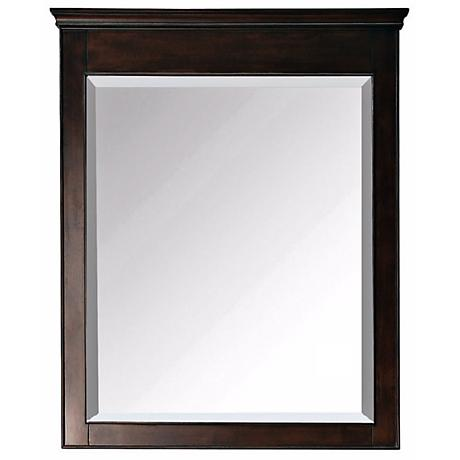 "Avanity Windsor 36"" High Walnut Wood Frame Wall Mirror"