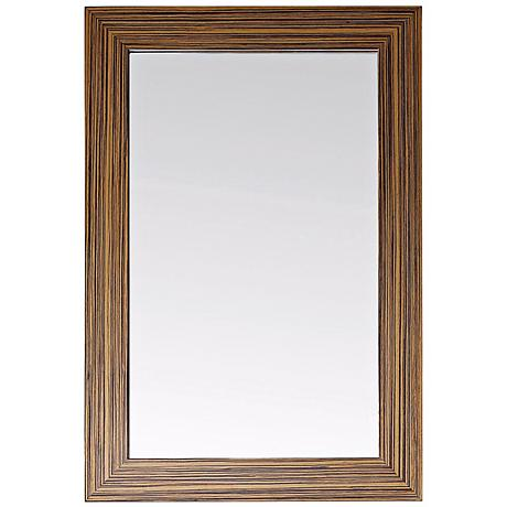 "Avanity Knox 24"" Wide Zebra Wood Wall Mirror"