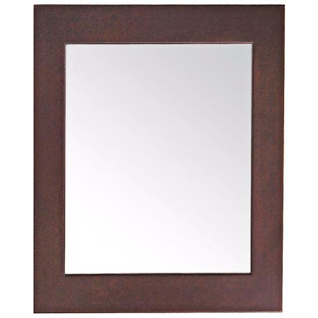 "Avanity 22"" Wide Dark Walnut Frame Wall Mirror"