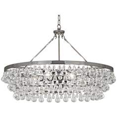 Robert Abbey Bling Collection Large Nickel Chandelier