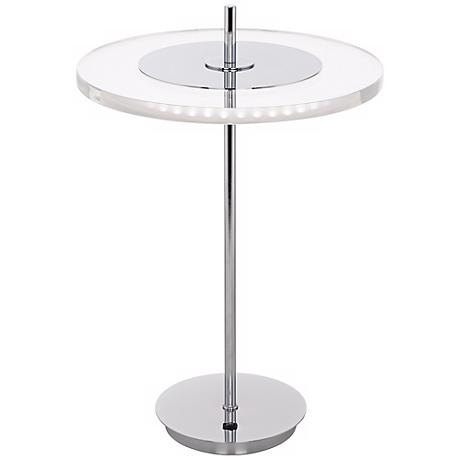Otoniel LED Acrylic Disc and Chrome Table Lamp