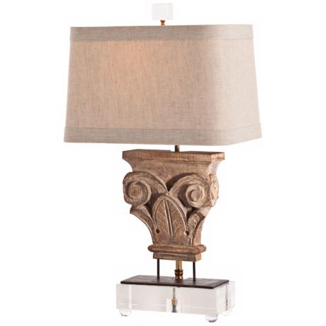 Arteriors Home Awignon Wood Finish Iron Table Lamp