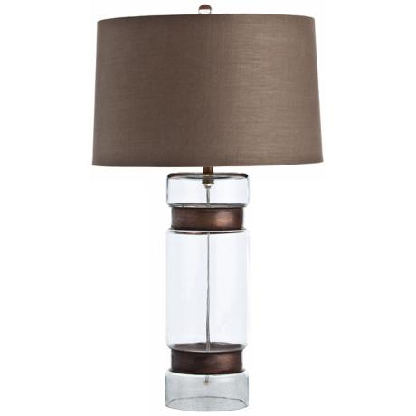 Arteriors Home Garrison Tall Brass and Glass Table Lamp