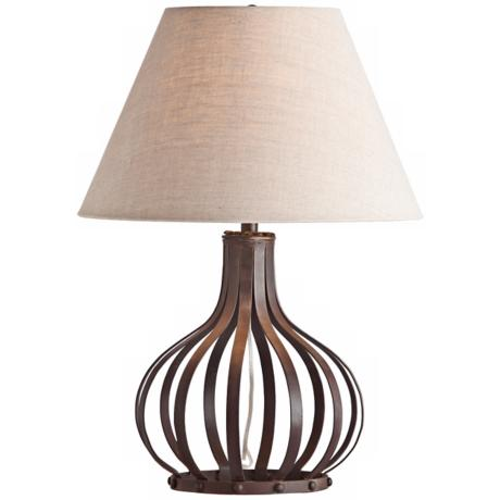 Arteriors Home Ryland Openwork Dark Iron Table Lamp