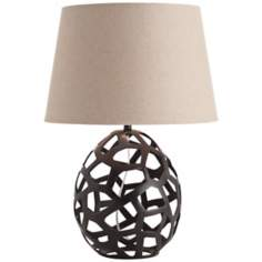 Arteriors Home Salem Black Oxidized Iron Table Lamp