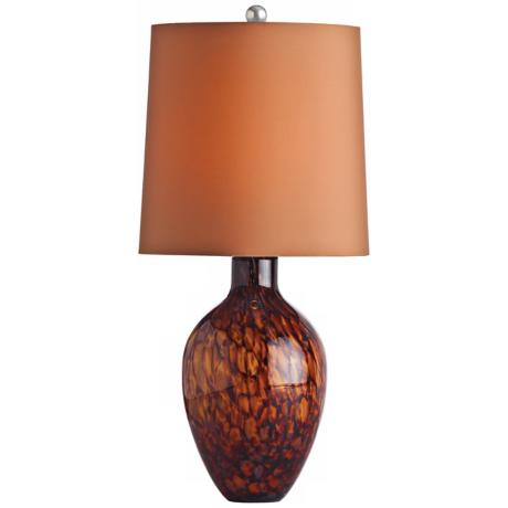 Arteriors Home Ty Tortoise Shell Glass Table Lamp